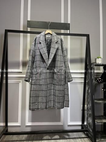 【Z720006】人字紋長版雙排大衣