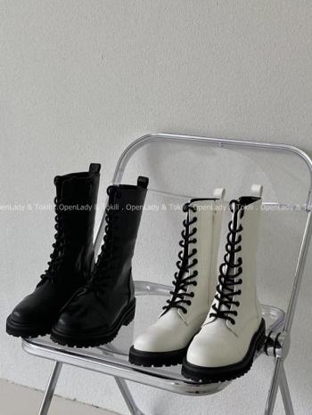 【Z923097】綁帶中筒馬丁靴