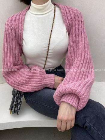【Z923118】羊毛短版外搭罩衫