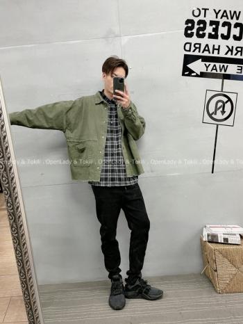 【Z720026】雙袋不修編夾克襯衫
