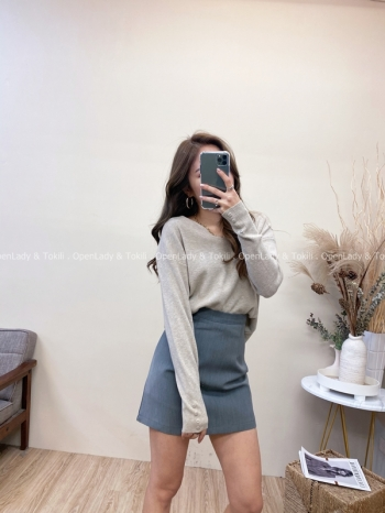 【Z822036】修腰擺搭西裝裙(安全褲襯)