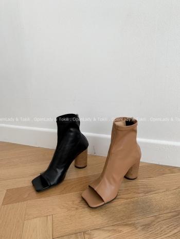 【Z923141】柔軟皮革露指靴