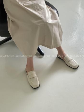【Z923145】皮質感穆勒懶人鞋