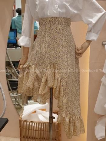 【Z923237】碎花下擺設計半身裙