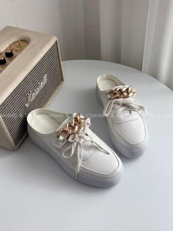 【Z923275】鎖鍊設計增高懶人鞋