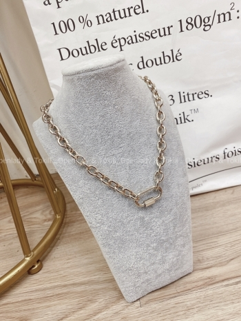 【Z923235】歐美金色環釦項鍊