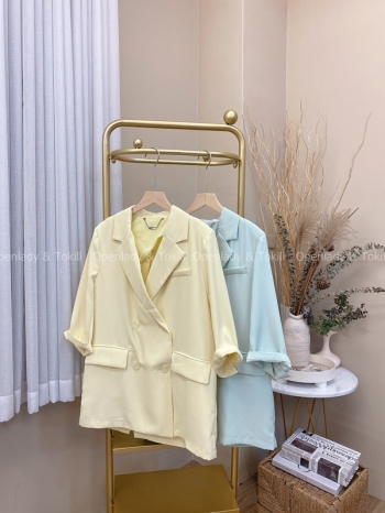 【Z822271】春夏感純色西裝外套