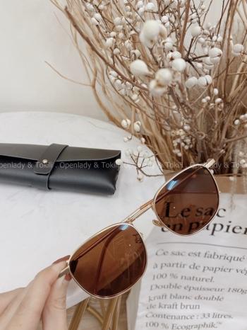 【Z822272】褐色霧金屬框墨鏡