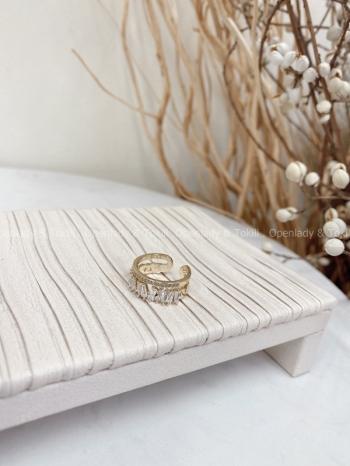 【Z822279】小鋯石雙層戒指
