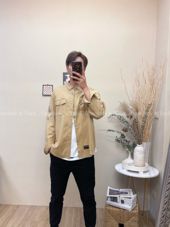 【Z720028】口袋工裝夾克襯衫