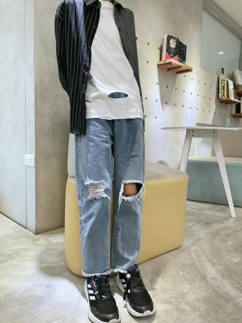 【Z620004】 破洞造型牛仔褲 男童