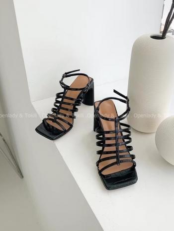 【Z923368】 方頭環繞細帶涼鞋