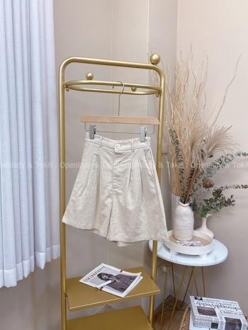 【Z822207】舒適棉麻西裝短褲