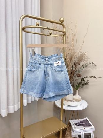 【Z822297】漸層雙釦高腰短褲