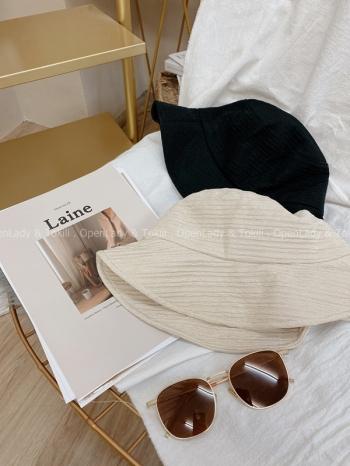 【Z822393】水波紋質感漁夫帽