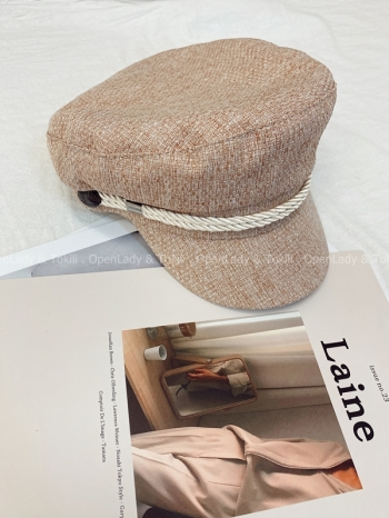 【Z822394】編織感軟呢報童帽