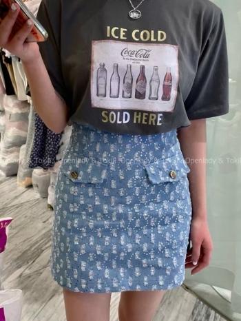 【Z923332】丹寧口袋造型短裙