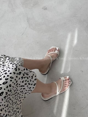 【Z923364】率性細帶多色夾腳拖鞋