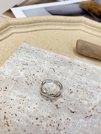 【Z923393】環繞編織純銀戒指