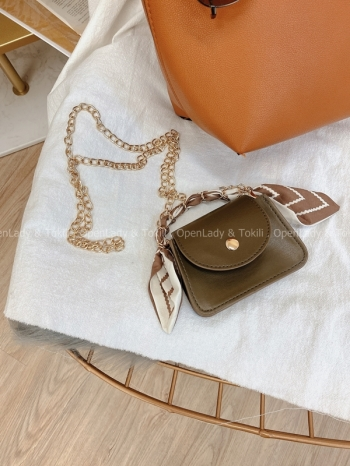 【Z822376】法式絲巾鏈條迷你小包