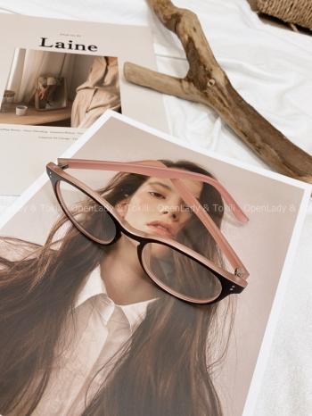 【Z822390】撞色粉黑框平光眼鏡