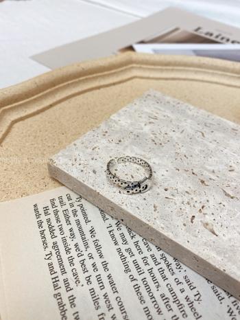 【Z923399】搭釦皮帶感純銀戒指