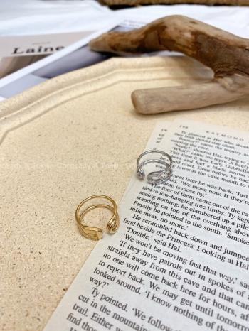 【Z822421】迴紋針設計鈦鋼戒指