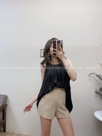 【Z822493】壓摺感削肩寬鬆上衣