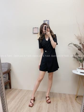 【Z822500】質感腰身西裝褲裙