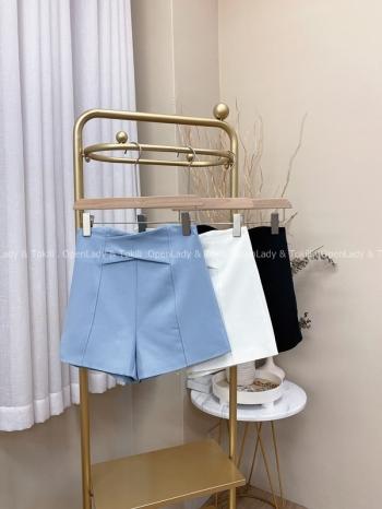 【Z822490】交叉高腰修身西裝短褲