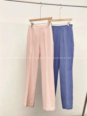 【Z923487】韓妞糖果色西裝長褲