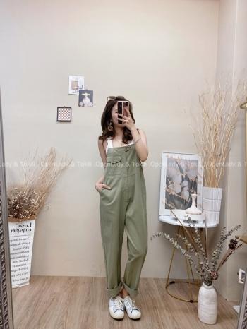 【Z822552】韓系休閒工裝連身褲
