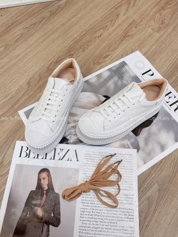 【Z822788】真皮增高厚底小白鞋