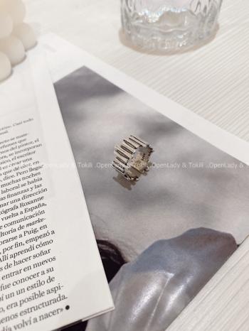 【Z822831】銀色不規則純銀戒指