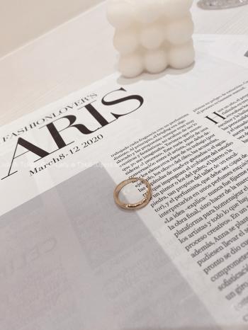 【Z822834】簡約金色圓環鈦鋼戒指