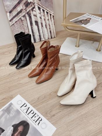 【Z822839】歐美尖頭個性短靴