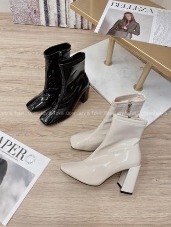 【Z822843】歐美時髦漆皮短靴