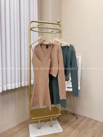 【Z822982】兩件式針織毛衣套裝