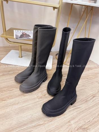 【Z823040】修飾霧面皮質長靴 限定宅配