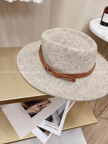 【Z923743】拿鐵杏花灰質感圓頂帽
