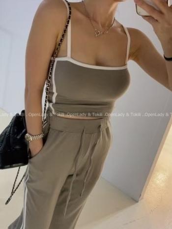【Z923788】細肩彈性罩杯背心